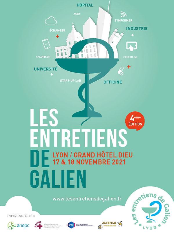 Poster Entretiens de Galien, l'événement pour les pharmaciens
